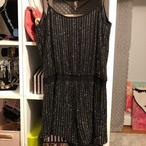 Pants - Black Silk Sequin & Beaded Shorts Jumper